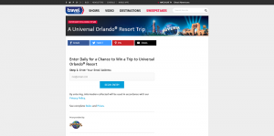 Travel Channel Universal Orlando 2016 Sweepstakes