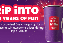 Chuck E. Cheese's Rip It, Win It Instant Win Game 2017 (RipItWinIt.com)