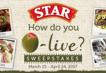 STAR How Do You O-live? Sweepstakes 2017