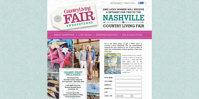 nashville fair 2016 sweepstakes