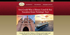 2016 Twinings Winter Promotion: Land & Sea Sweepstakes