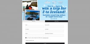 Price Chopper Trip to Iceland Sweepstakes