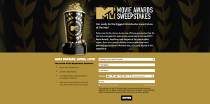 2016 MTV Movie Awards Sweepstakes