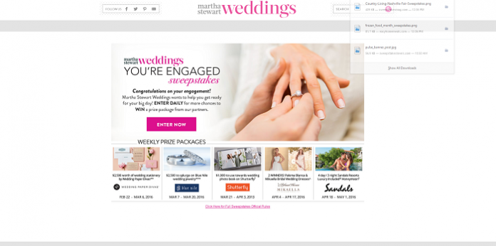 MarthaStewartWeddings.com You're Engaged Sweepstakes
