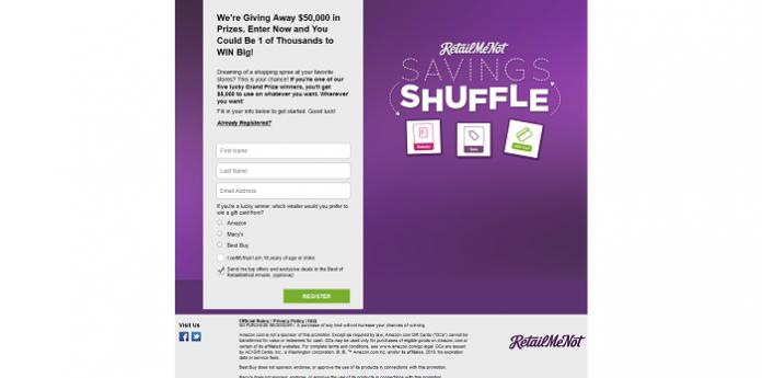 RetailMeNot Savings Shuffle Giveaway