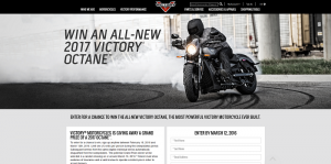 Victory Motorcycles Octane Sweepstakes