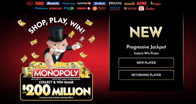 Monopoly Albertsons 2017 (PlayMonopoly.us