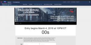 DestinationAmerica.com/LockdownSweeps: Destination America's Paranormal Lockdown Sweepstakes