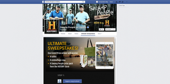 History's Swamp People Ultimate Facebook Sweepstakes