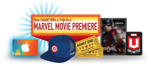 marvel movie premiere prize