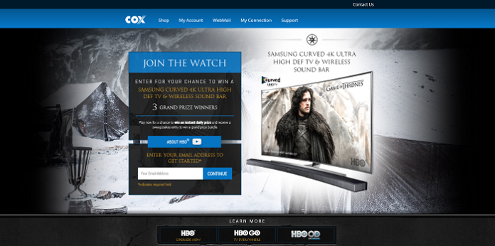 Cox.com/UltimateTVContest - Cox Ultimate TV Contest 2016