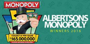 Albertsons Monopoly Winners 2016