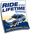 Albertsons Ride of Your Lifetime Giveaway Tag