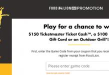 FoodLion.com/Sizzle - Food Lion Sounds Of Sizzle Instant Win Game