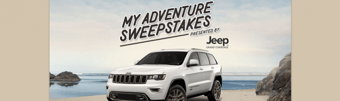 Jeep My Adventure Sweepstakes - myadventuresweepstakes.com