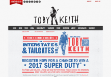 TobyKeith.com/Ford: Toby Keith & Ford Present The Interstates & Tailgates Sweepstakes