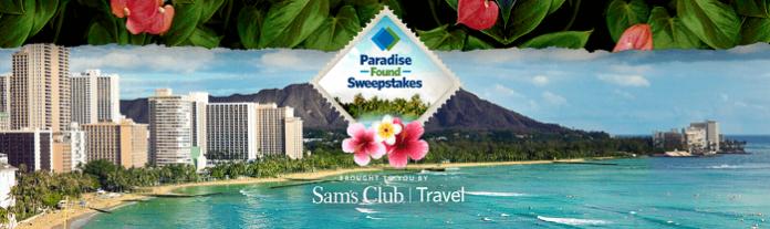 SamsClub.com/TravelSweeps - Paradise Found Sweepstakes