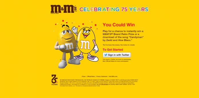 M&M'S Brand Retro Bag Instant Win Game