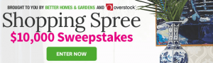 BHG.com/Overstock - $10,000 Shopping Spree Sweepstakes 2016