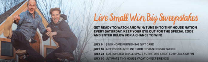 FYI.tv/TinySweeps - Tiny House Nation Live Small Win Big Sweepstakes