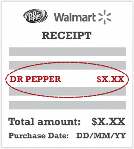 walmart dr pepper receipt