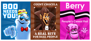 Monster Cereals 2016 Campaign Posters