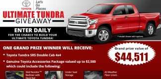Bassmaster Toyota Tundra Giveaway 2017