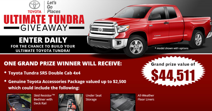 Peppers Toyota Paris Tn >> 2018 Toyota Tundra Giveaway | Upcomingcarshq.com