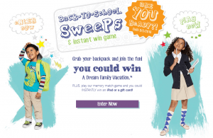 BonTon Back-To-School Sweepstakes