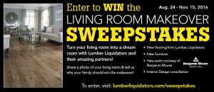 lumberliquidators.com/sweepstakes - Lumber Liquidators Living Room Makeover Sweepstakes