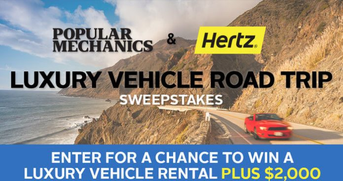 PopularMechanics.com/Hertz - Popular Mechanics Hertz Sweepstakes 2016
