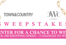 TownAndCountryMag.com/ClaraWilliams - Town & Country Clara Williams Sweepstakes