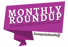 Monthly Roundup: All Online Sweepstakes Of The Month