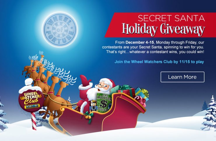 Wheel Of Fortune Secret Santa Sweepstakes 2017
