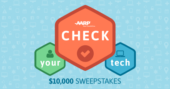 AARP Check Your Tech $10,000 Sweepstakes