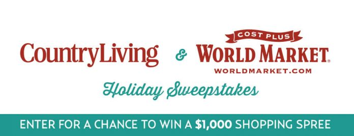 Country Living World Market Sweepstakes (CountryLiving.com/WorldMarket)
