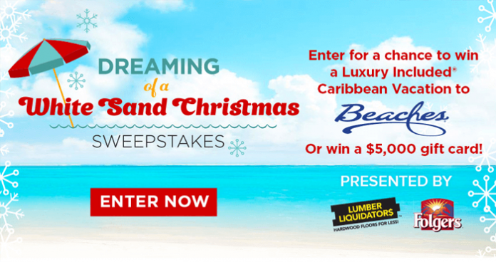 Hallmark Channel Dreaming Of A White Sand Christmas Sweepstakes