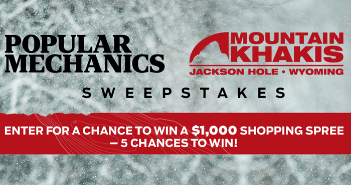 Popular Mechanics Mountain Khakis Sweepstakes (PopularMechanics.com/MountainKhakis)