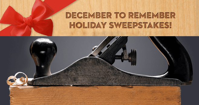Popular Woodworking December To Remember Holiday Sweepstakes 2016 (PopularWoodworking.com/31Days)