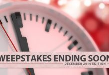 Sweepstakes Ending Soon (December 2016 Edition)
