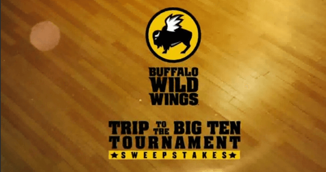 Buffalo Wild Wings Trip To The Big Ten Tournament Sweepstakes (BTN.com/BWWContest2017)