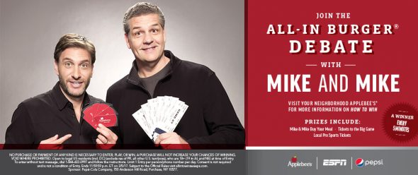 All-In To Win Sweepstakes At Applebee's (AllInToWinSweeps.com)