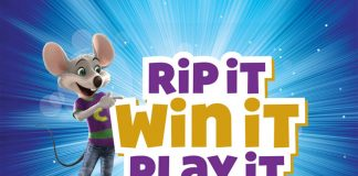 Chuck E. Cheese's Rip It, Win It Instant Win Game 2018 (RipItWinIt.com)