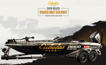 Cabela's Club David Walker Ranger Boat Giveaway 2017