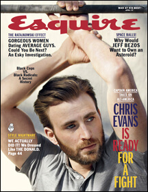 Esquire Magazine Cover Featuring Chris Evans