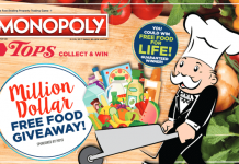 Tops Markets Monopoly 2017 (TopsMarkets.com/Monopoly)