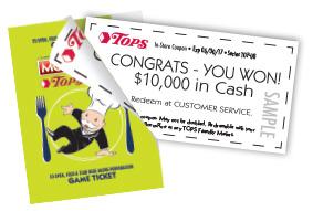 Tops Monopoly Instant Winner Coupon