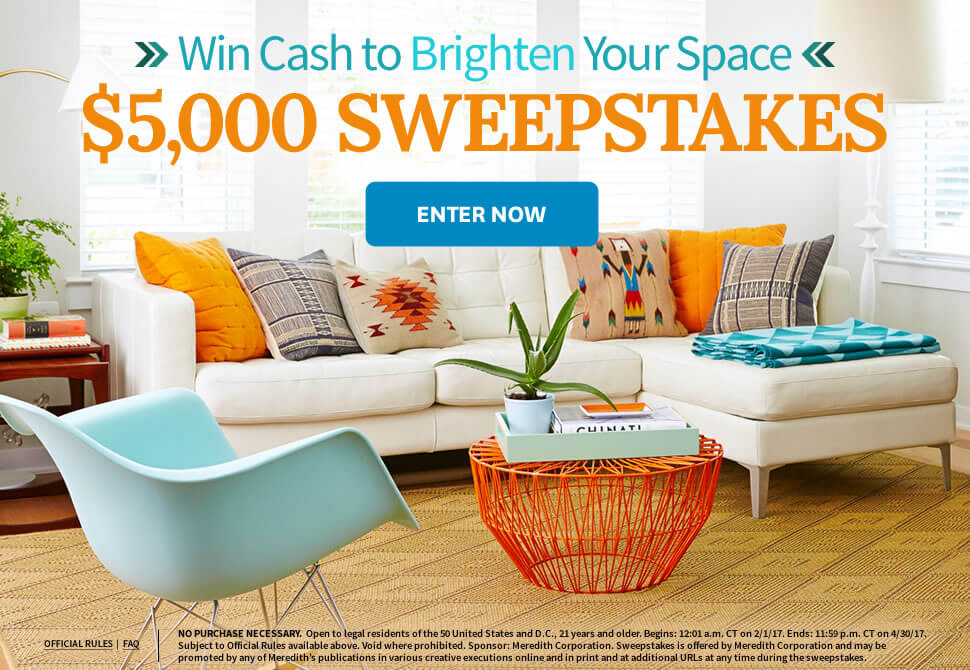 Brighten Your Space $5,000 Sweepstakes
