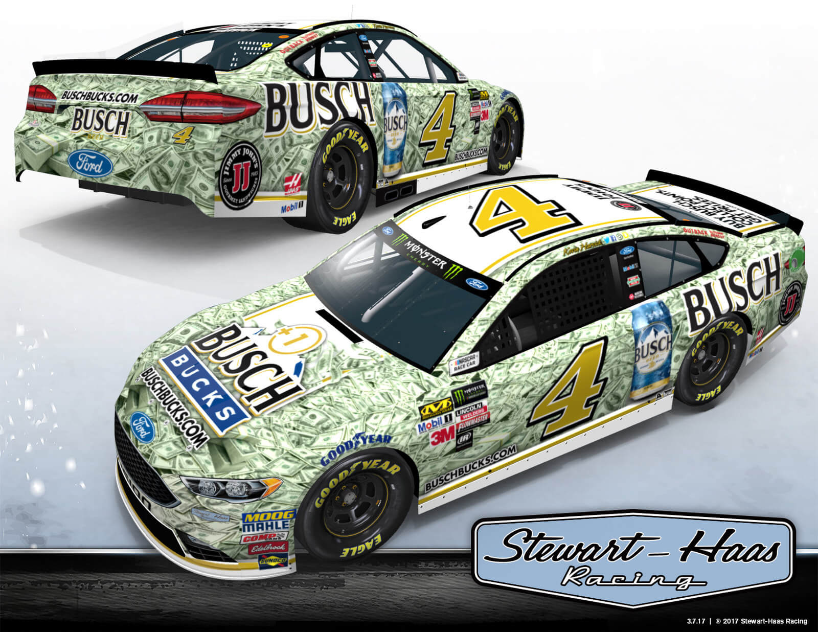 No. 4 Busch Bucks Ford Fusion