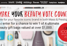 Shape Vote For Beauty Sweepstakes